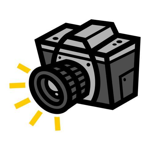 Icono de vector de cámara de fotografía