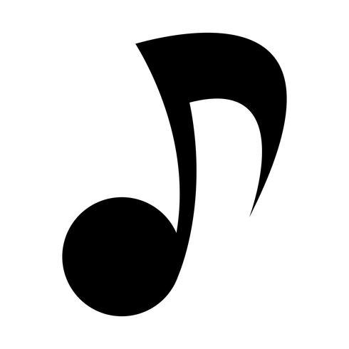 Musiknoten-Vektor-Symbol vektor