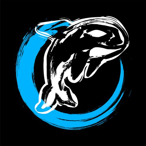 Killer Whale Orca illustration vector