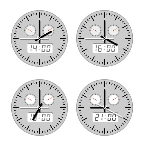 Movimientos y relojes. vector