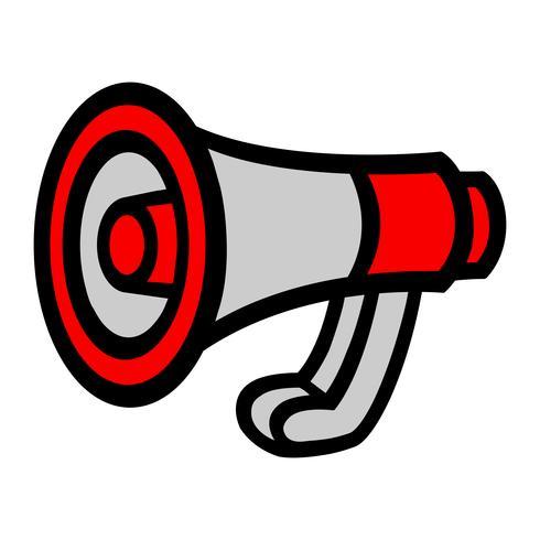 Avviso per l'annuncio dell'altoparlante dell'altoparlante del megafono