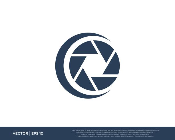 Camera Shutter Logo Icon Vector