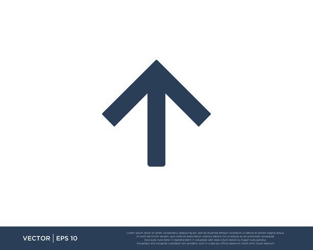Simbolo del modello di vettore dell'icona della freccia
