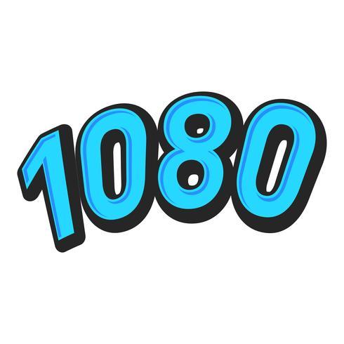 Gráfico de texto de formato de vídeo de alta definição 1080 vetor