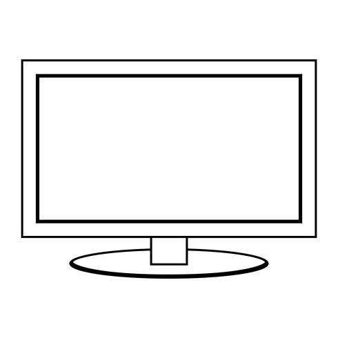Ícone de vetor de tela plana