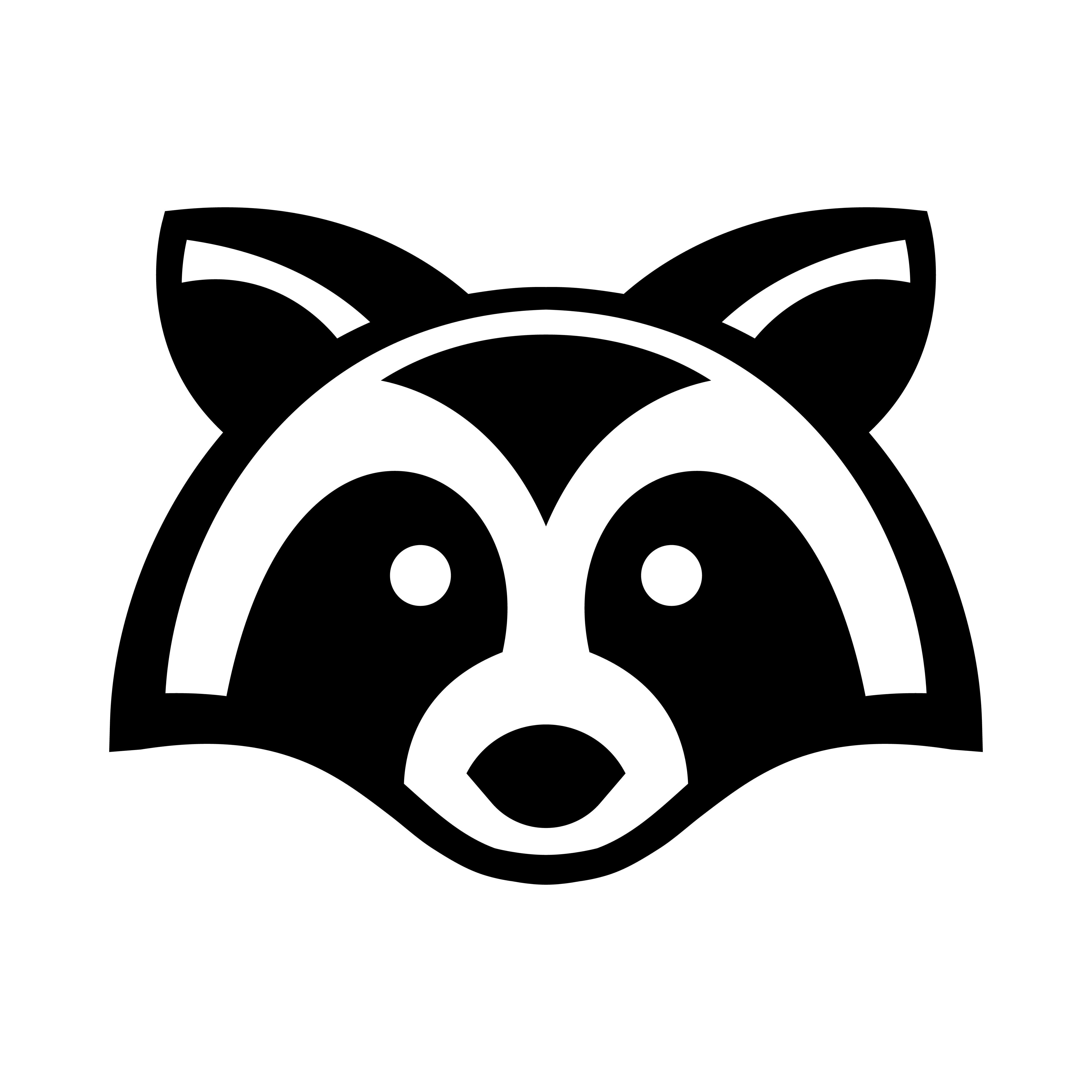 raccoon animal face vector download free vector art