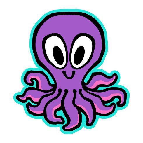 Cartoon Cute Octopus illustration