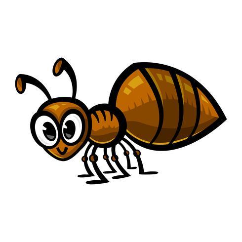 Inseto de inseto de formiga dos desenhos animados
