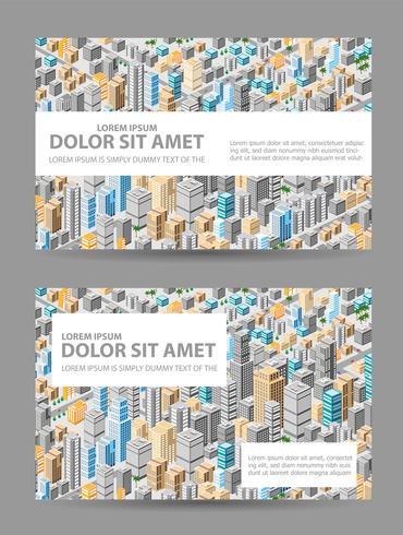 Stor isometrisk stad