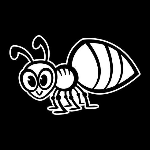 Cartoon mier insect bug vector