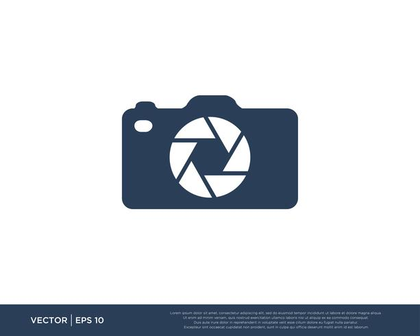 Camera Shutter Logo Icon Vector