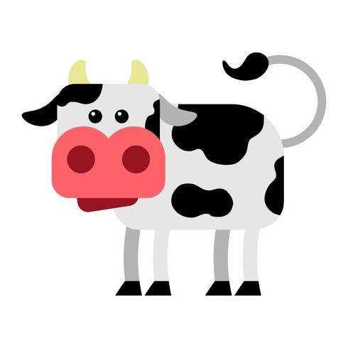 Vaca, vetorial, caricatura, ilustração vetor