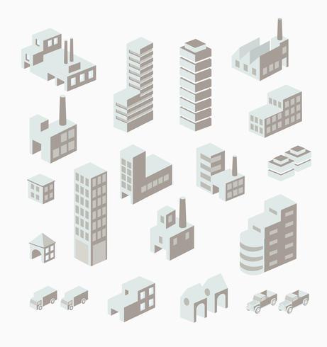 Um conjunto de urbano vetor