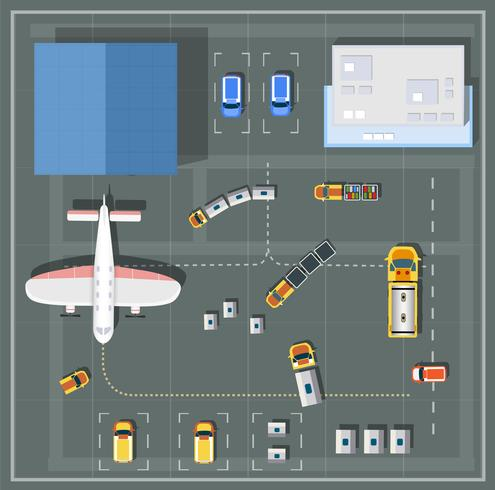 Lucht gezichtspunt luchthaven