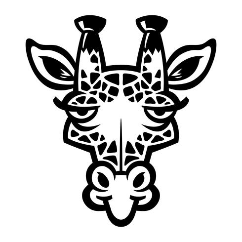 Cartoon-Giraffe vektor