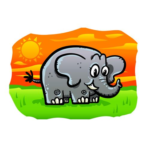 Cute cartoon elephant illustration