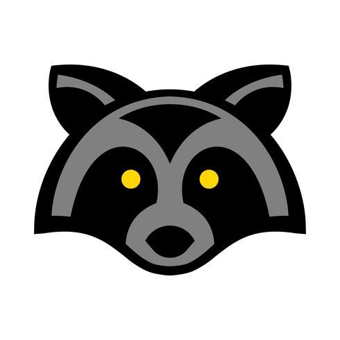 tvättbjörn djur ansikte vektor
