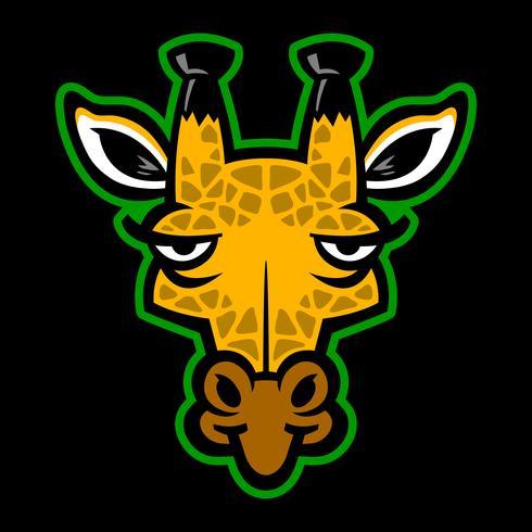cartoon giraffe vector