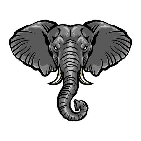 Ilustração de elefante dos desenhos animados com raiva vetor