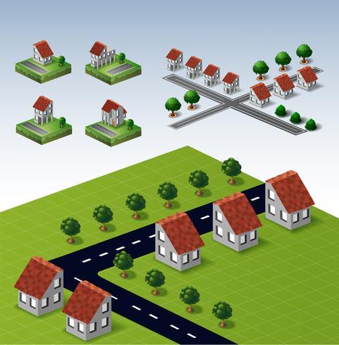 casas rurais vetor