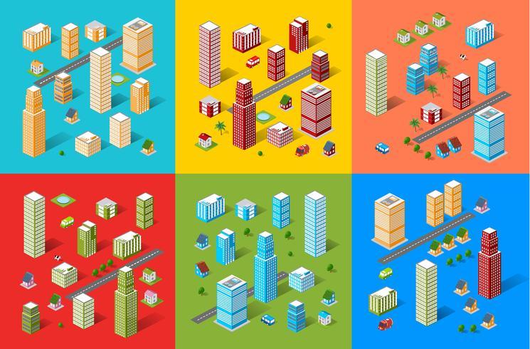 Set città isometrica