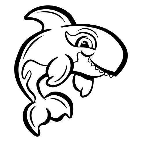 Killer Whale Orca Illustration vektor