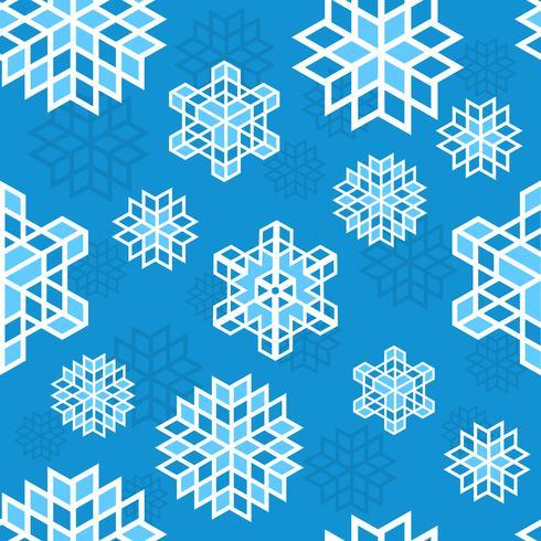 Kerst sneeuwvlok patroon vector