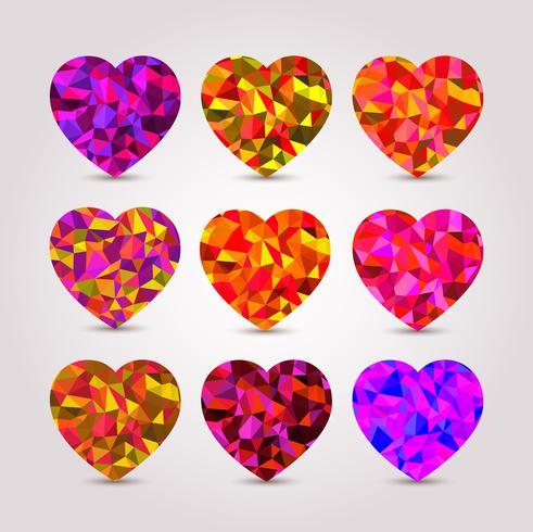 Set van harten vector