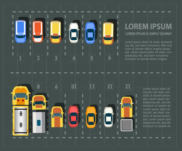 Overhead   point of view   vehicles   vector
