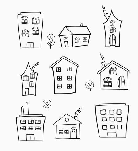Skizzen von Häusern