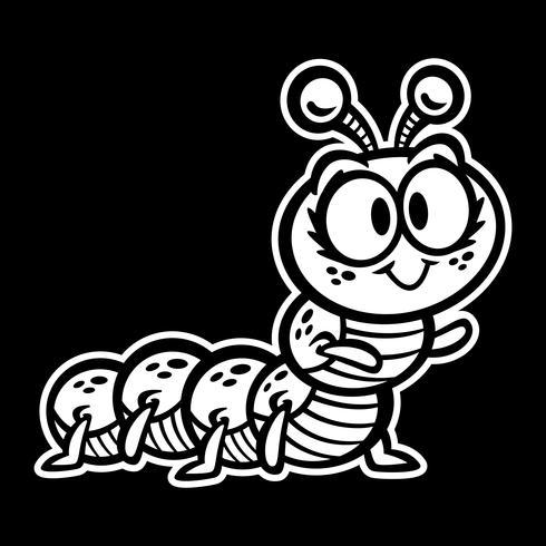 Fumetto sveglio dell'insetto di Caterpillar strisciante