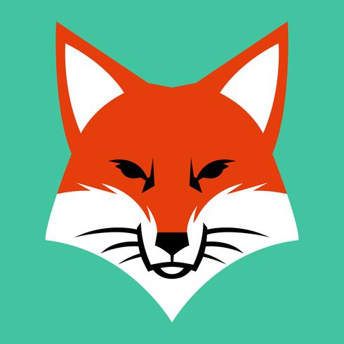 Fox Gesicht Logo Vektor Icon