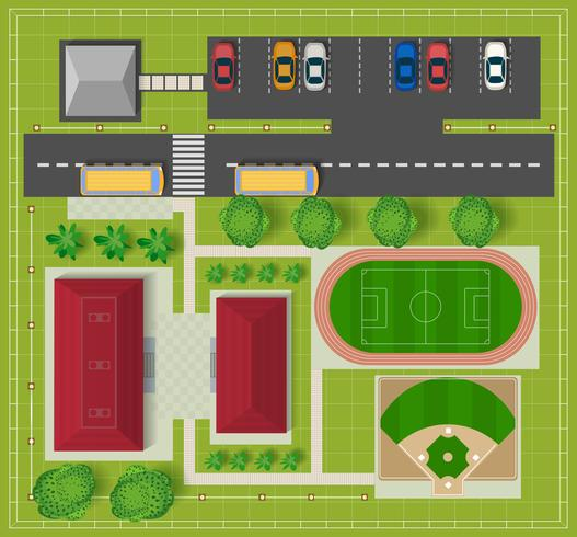 campo de fútbol vector