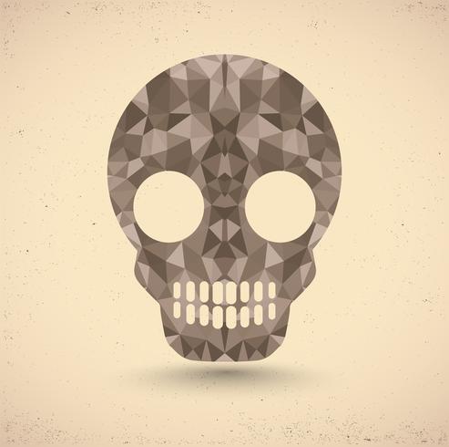 Cranio in stile retrò