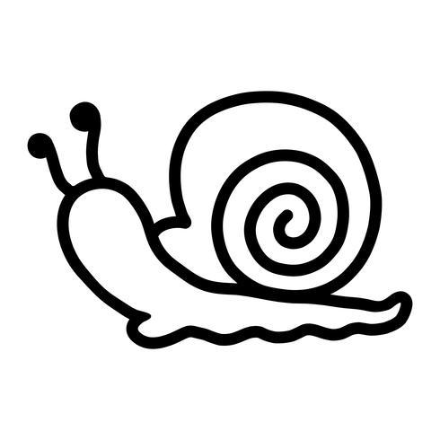 Ilustración de dibujos animados de caracol
