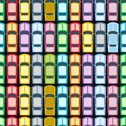 Carros retrô sem emenda vetor