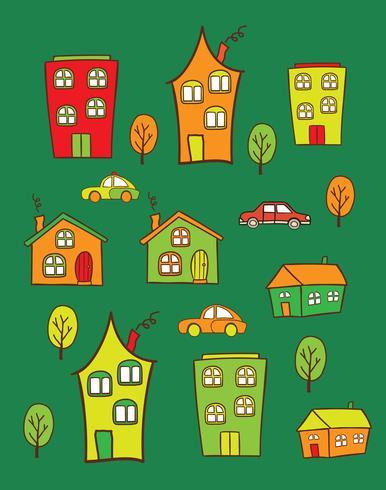 gekleurde huizen vector