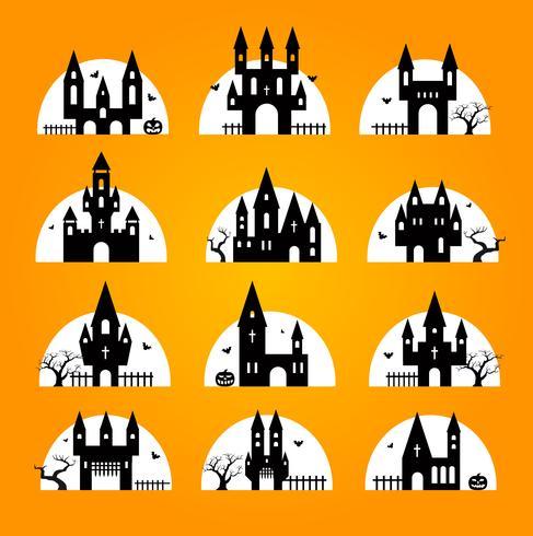 Set de halloween vector
