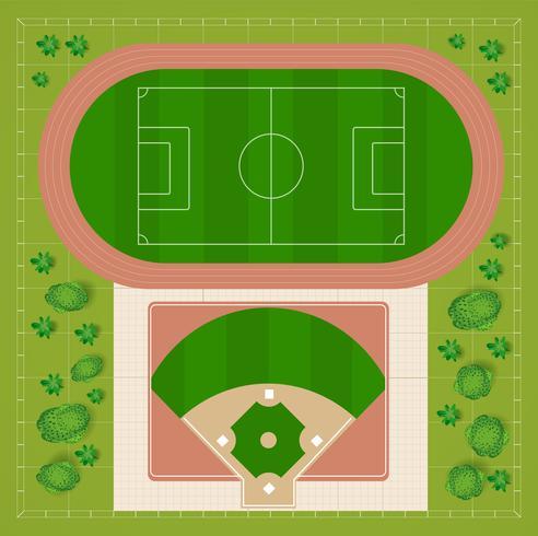 estádios de beisebol vetor