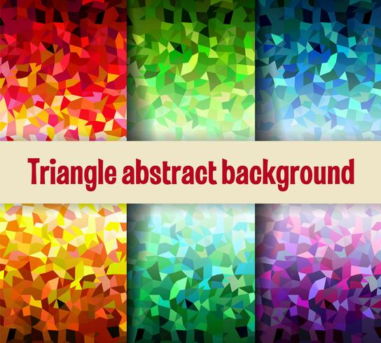 Malla triangular multicolor vector