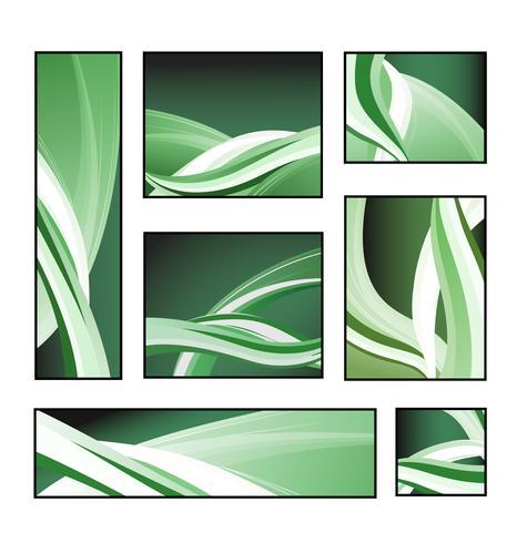 Un ensemble de motifs abstraits