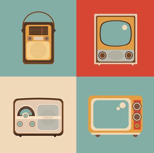 Imagem de TV de rádio vetor