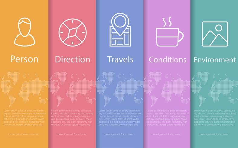 Concept  abstract travel  vector