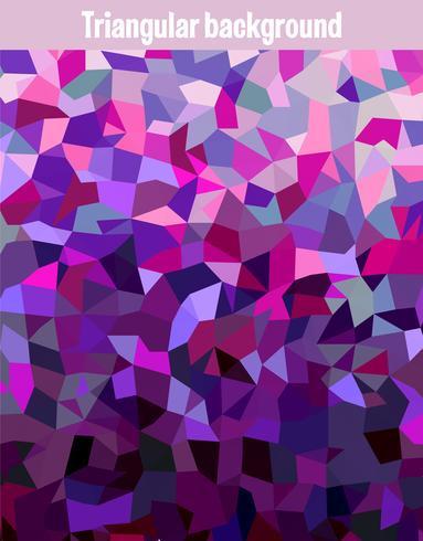 Maille triangulaire multicolore vecteur