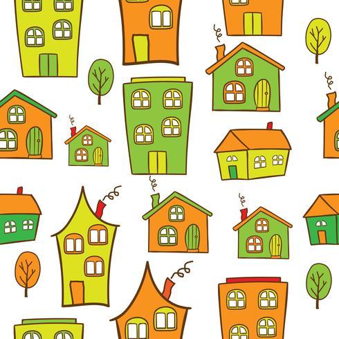 casas sin costura vector