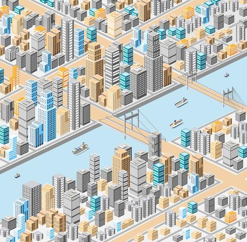 ciudad isometrica