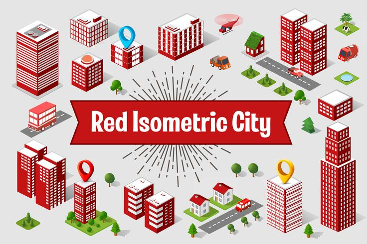 Red City  skyscraper  vector