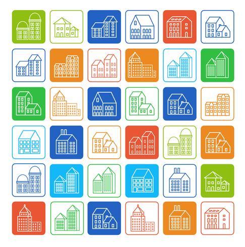 Icone della città lineare.