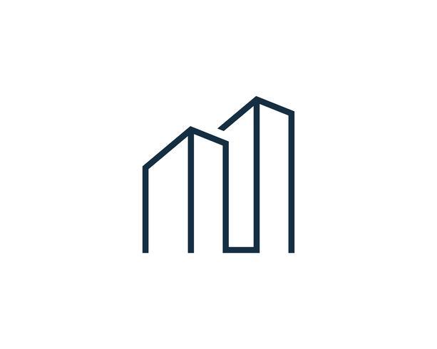 immobiliare costruzione logo icona vettoriale