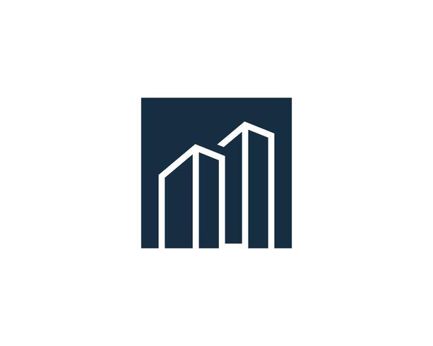 Real Estate, das Logo Icon Vector errichtet